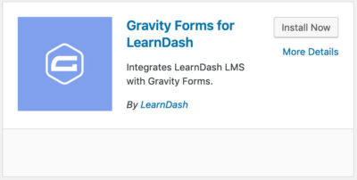Gravity Forms for LearnDash plugin