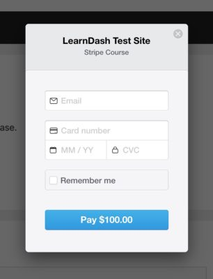Stripe for LearnDash payment modal example